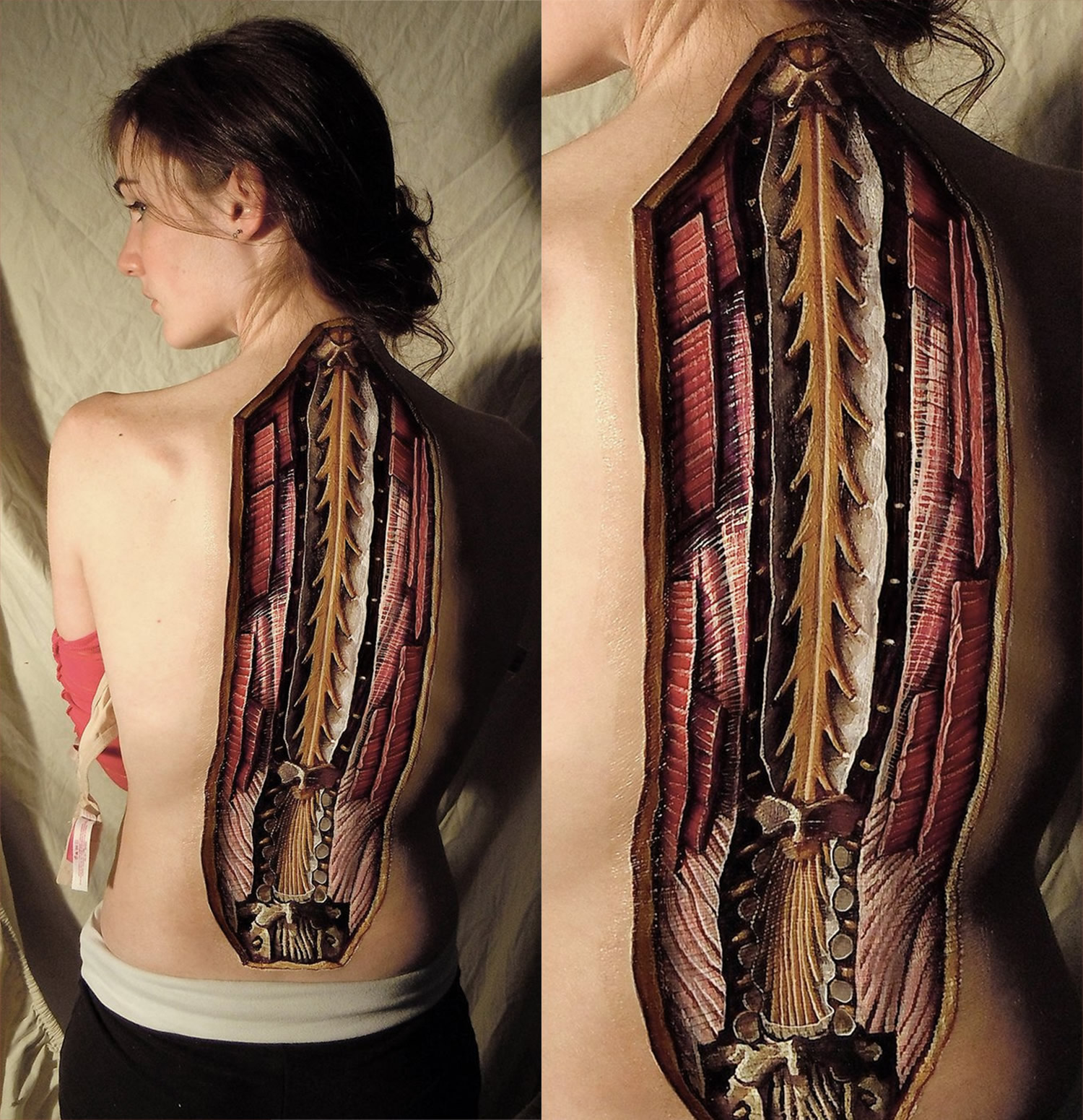 spine body painting by danny quirk