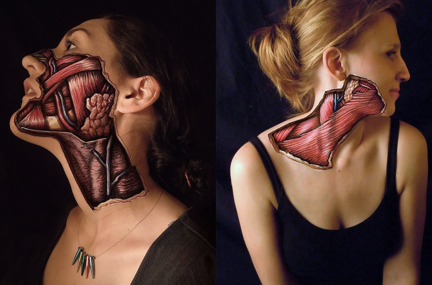 body painting (anatomy) by danny quirk
