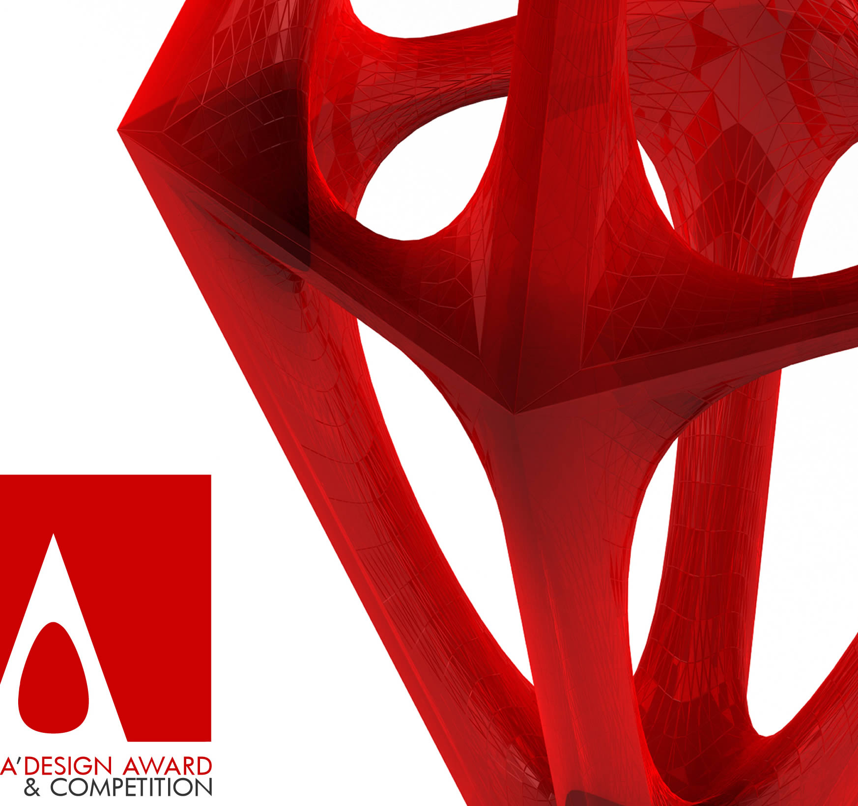 a'design award in red with logo on left side
