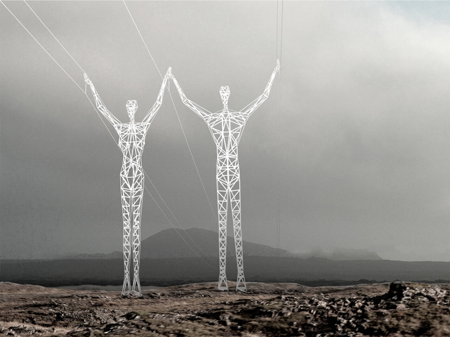 land of giants iceland architecture grey pillar electricity