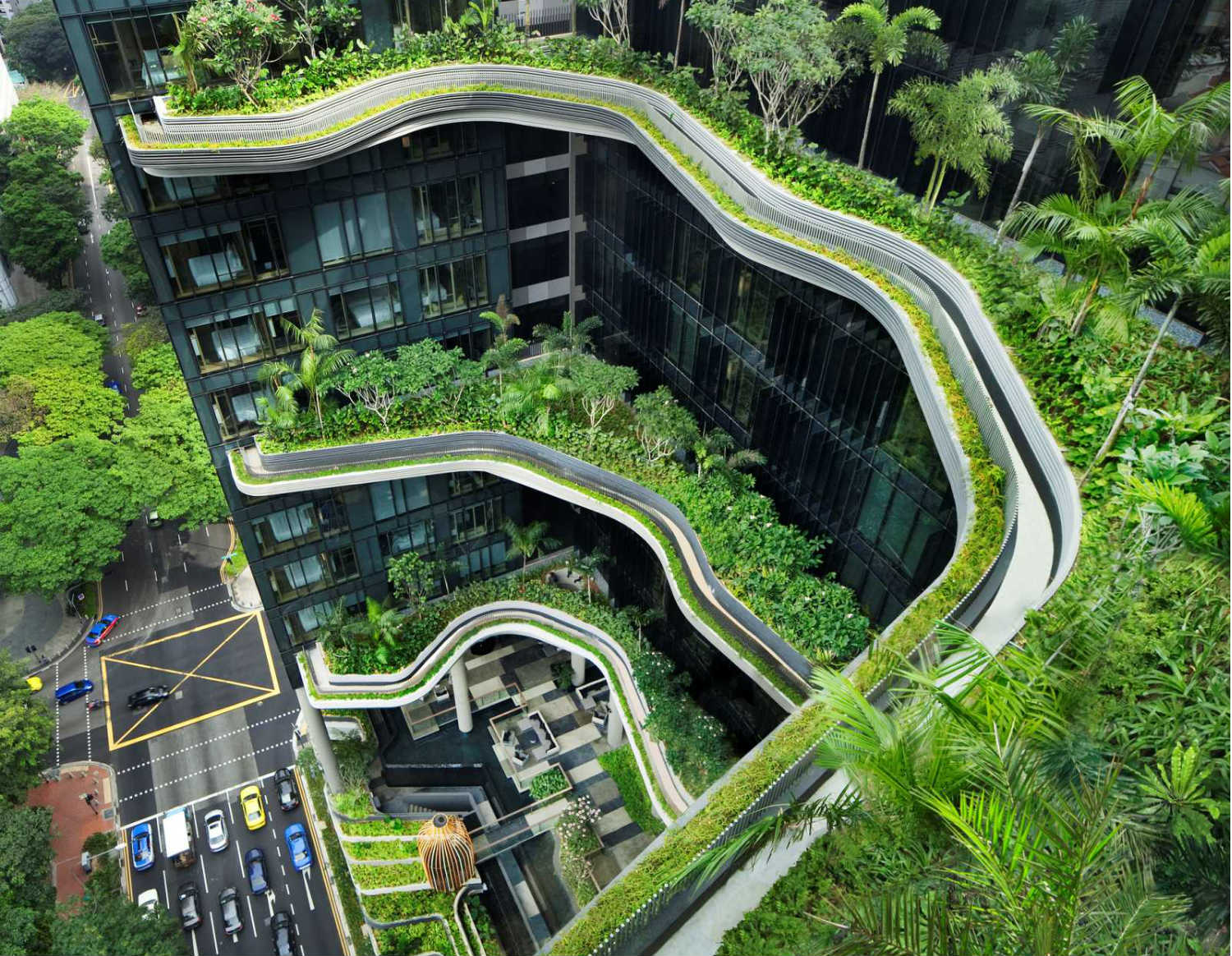 singapore woha architecture hotel green plants