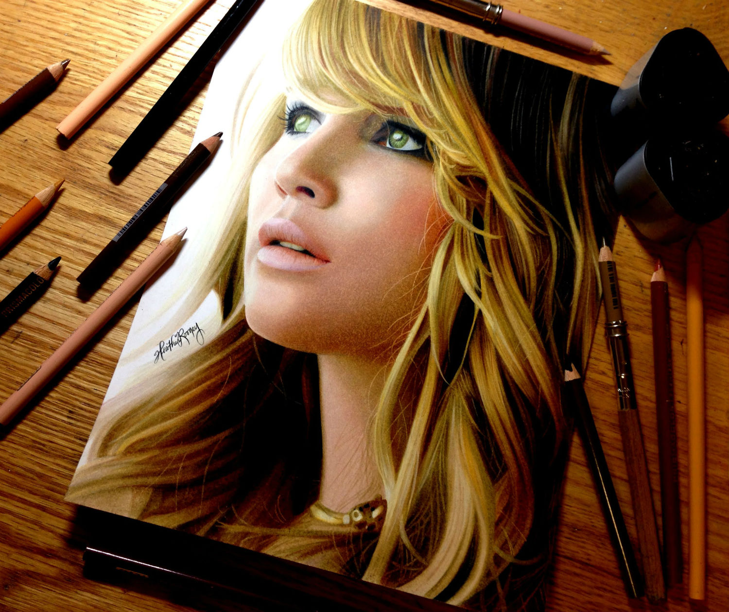 jennifer lawrence drawing pencil
