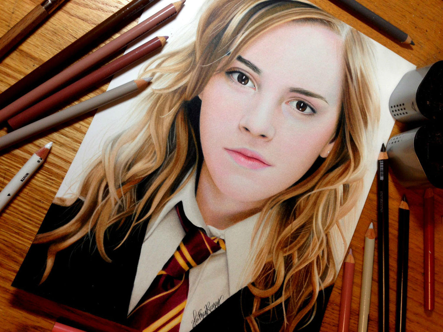 emma watson pencil drawing heather rooney