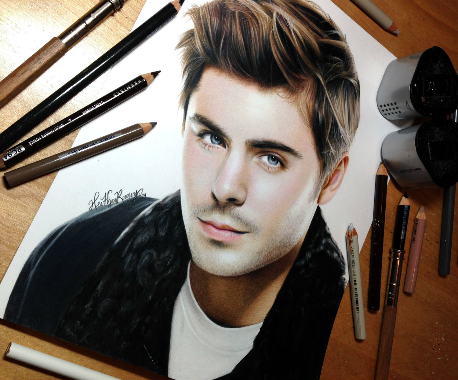 zac efron drawing pencil heather rooney
