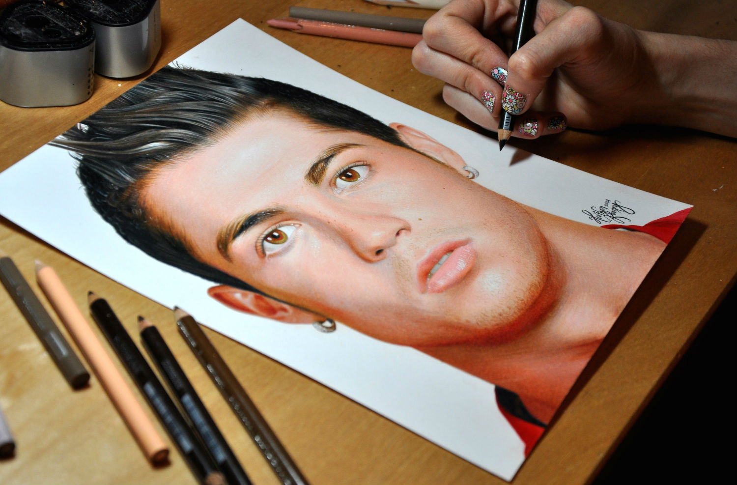 ronaldo drawing pencils heather rooney