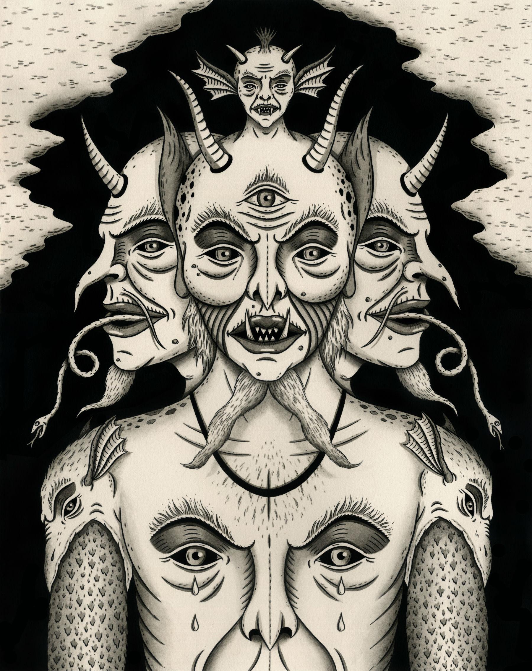 jon mcnair illustration weeping devil