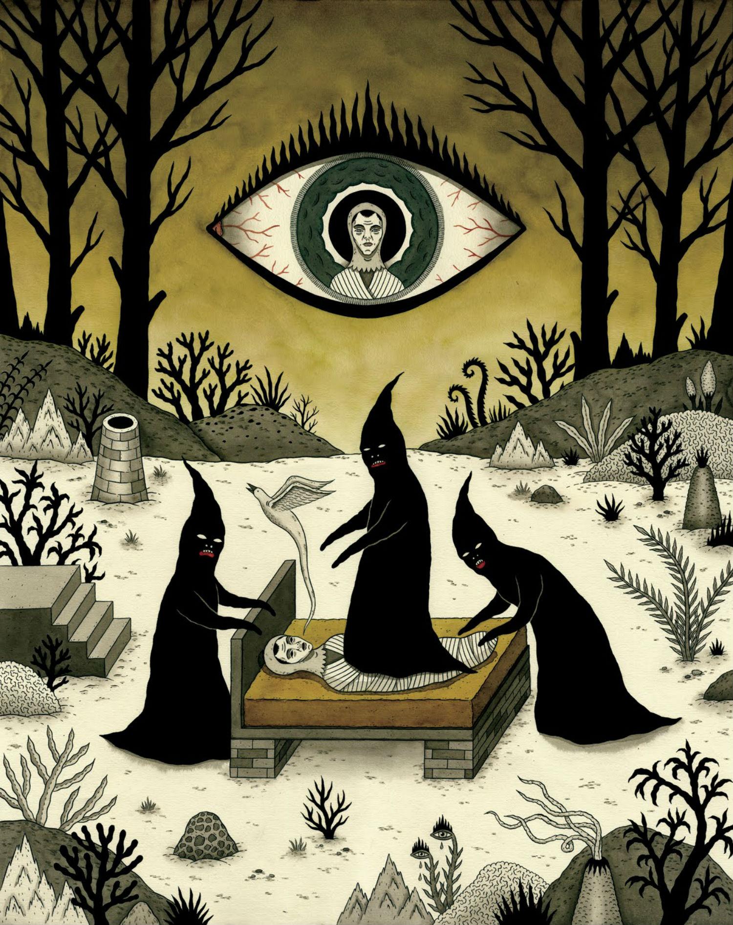 jon mcnair illustration gold spirit