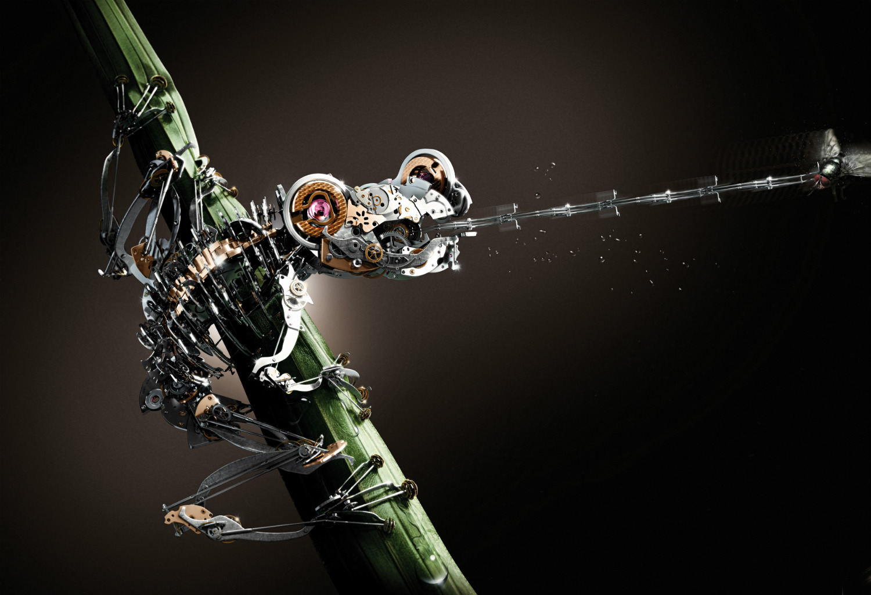 mecanique générale 3d frog métal ad