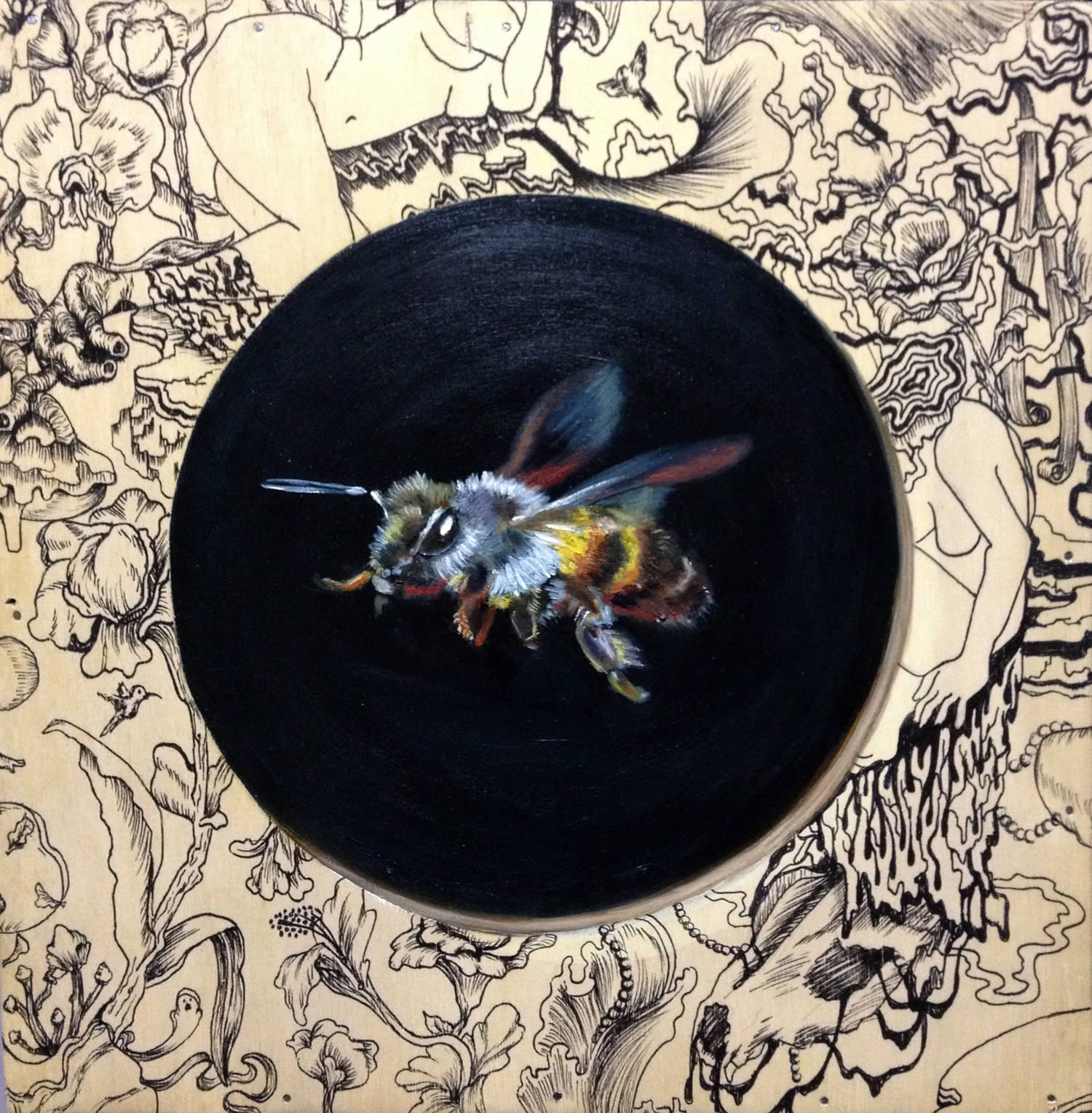 bee painting by mek yambao