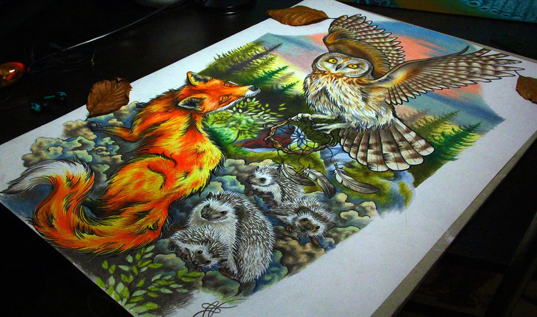 wildlife drawing by Nika Samarina
