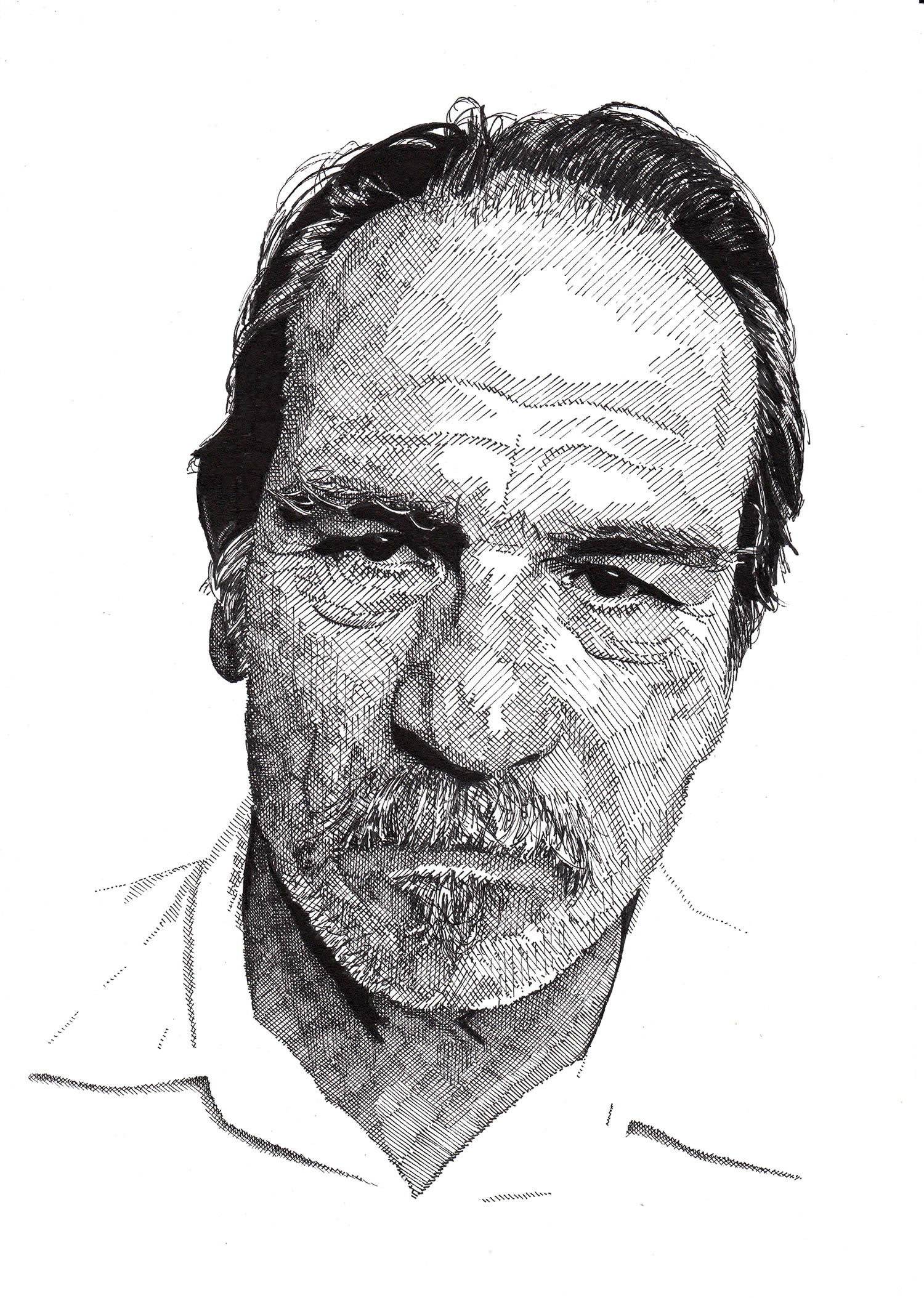 tommy lee jones portrait by rik reimert
