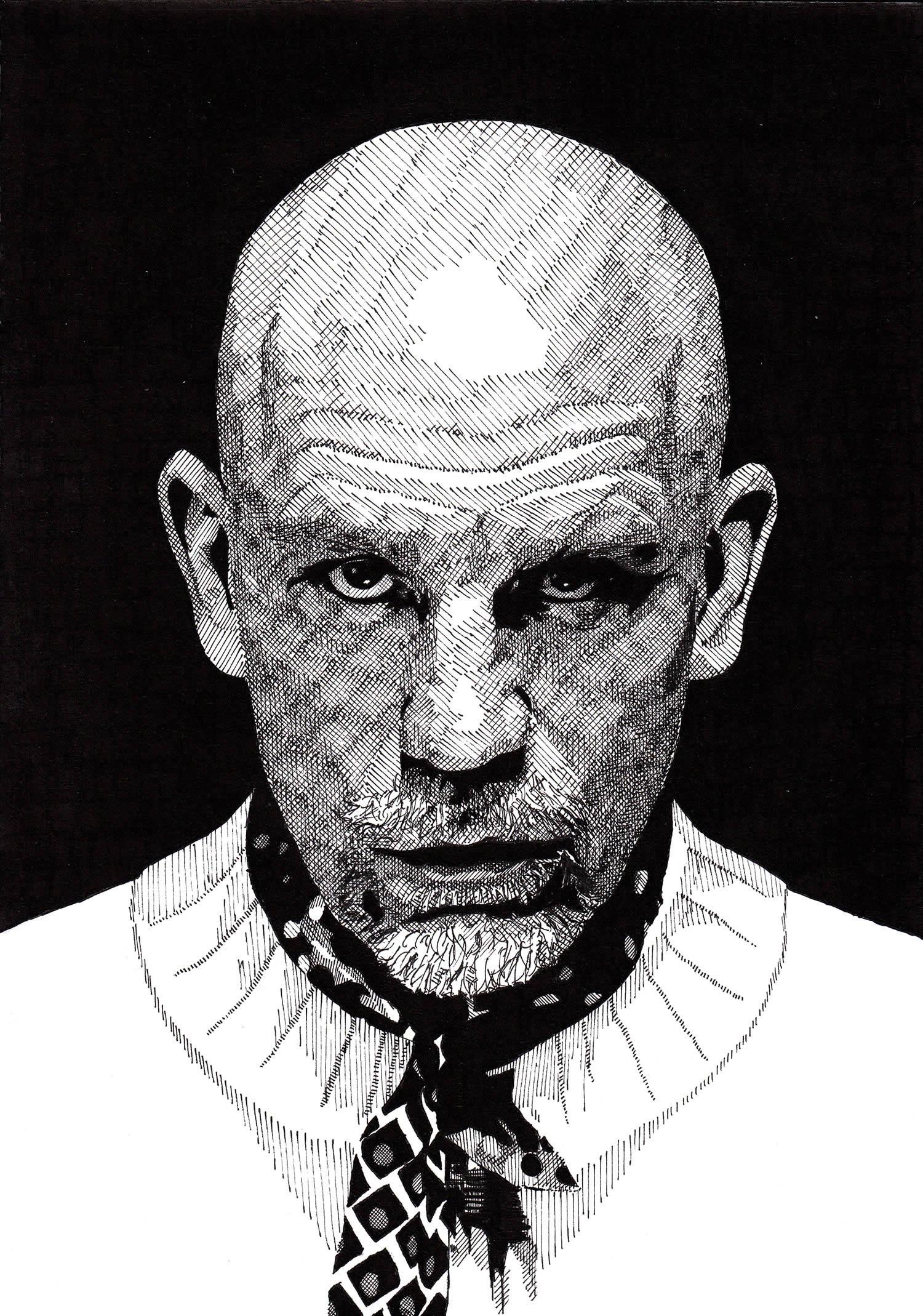 john malcovich portrait by rik reimert