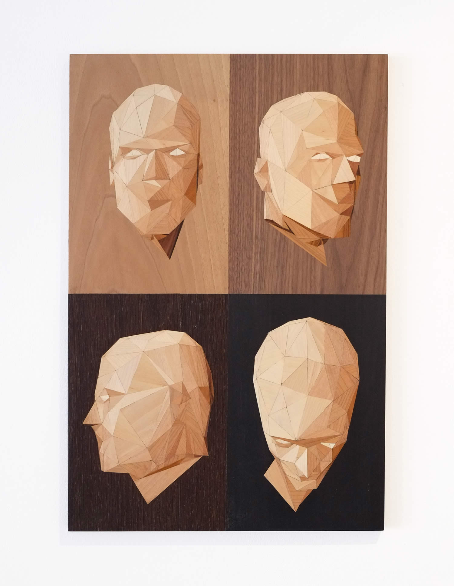vullus, faces on wood by rocco pezella