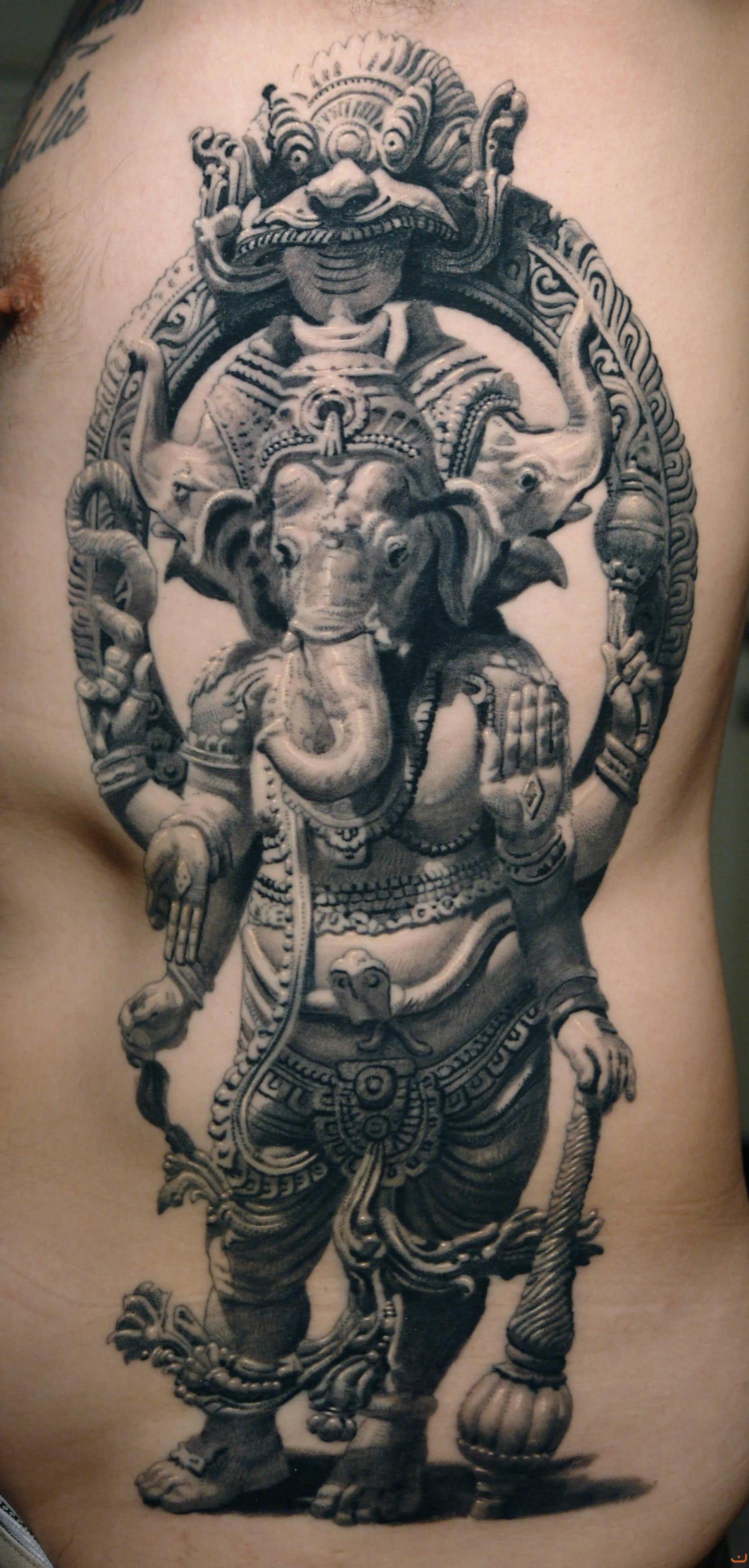 ganesha tattoo by sergiu sanchez