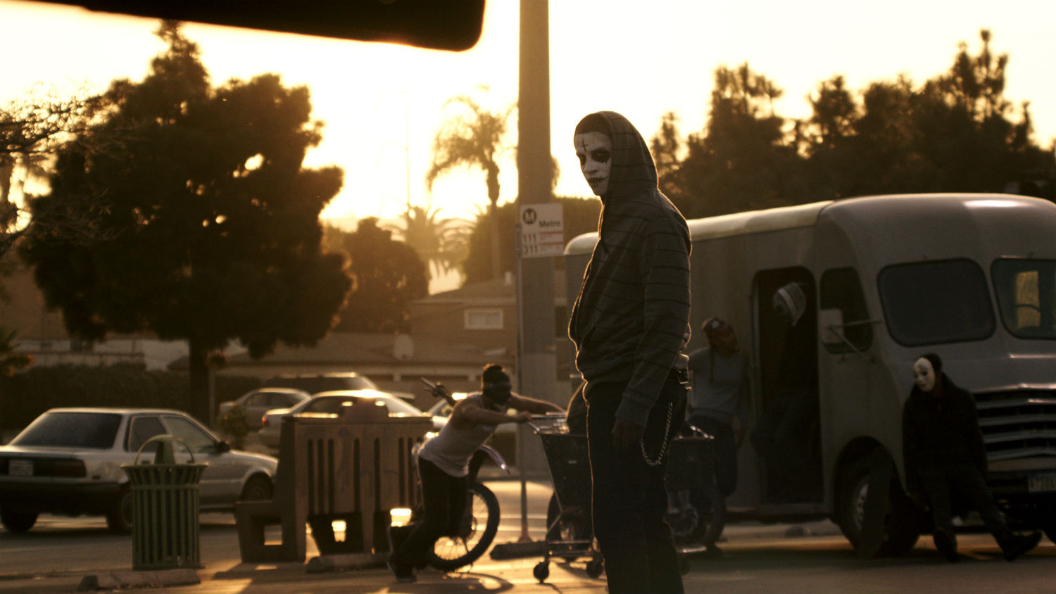 the purge anarchy sequel horror sunset mask