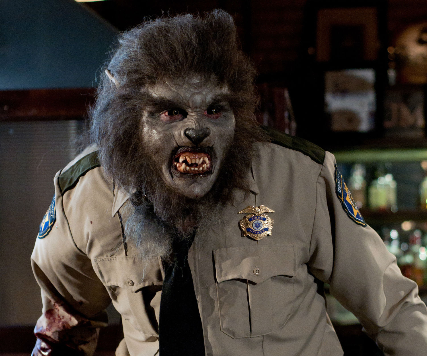 wolfcop horror b movie bar make-up