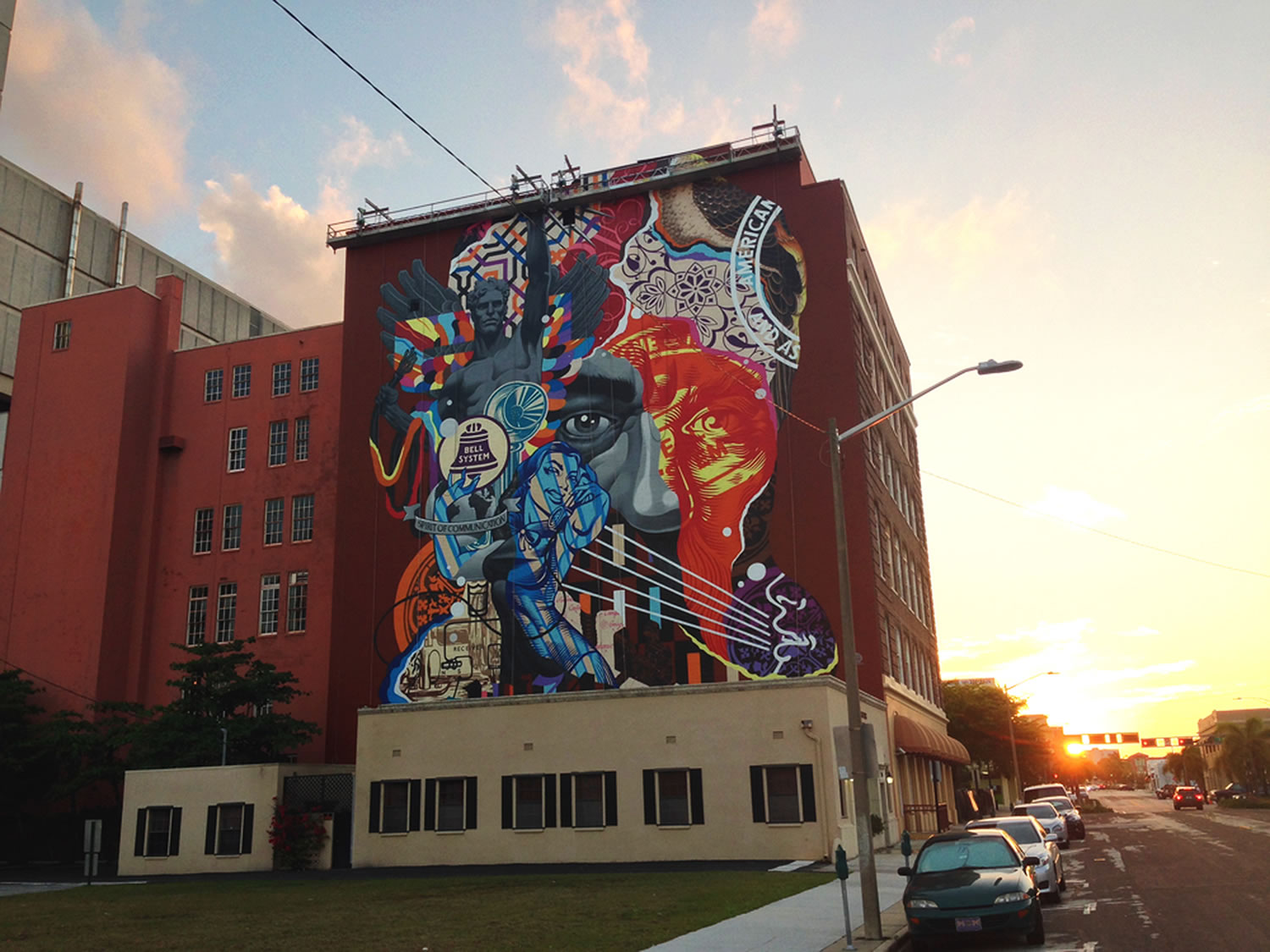 graffiti on building by Tristan Eaton