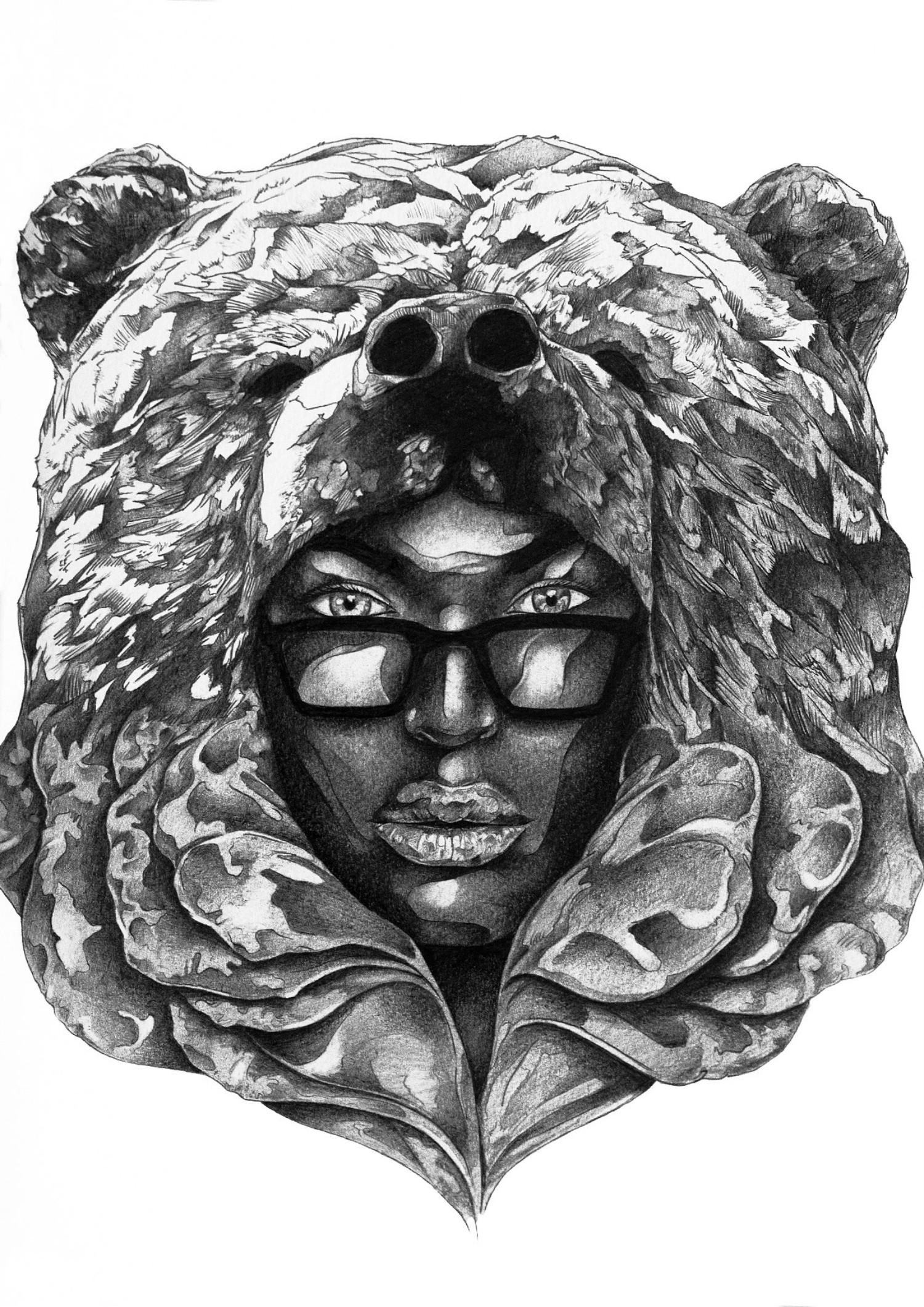 Ivan Kamargio illustration black white illustration