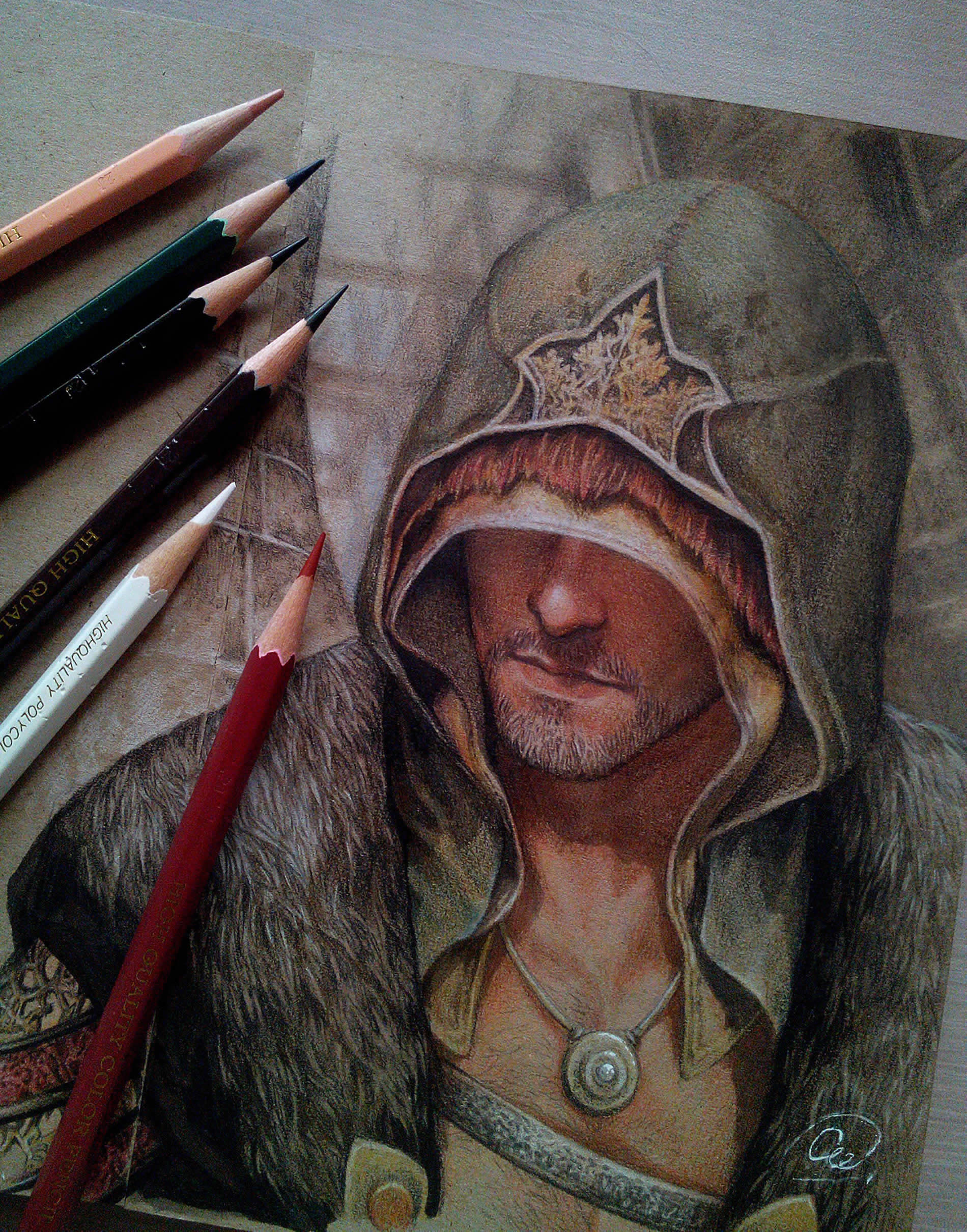 medieval man with cloak by aenaluck
