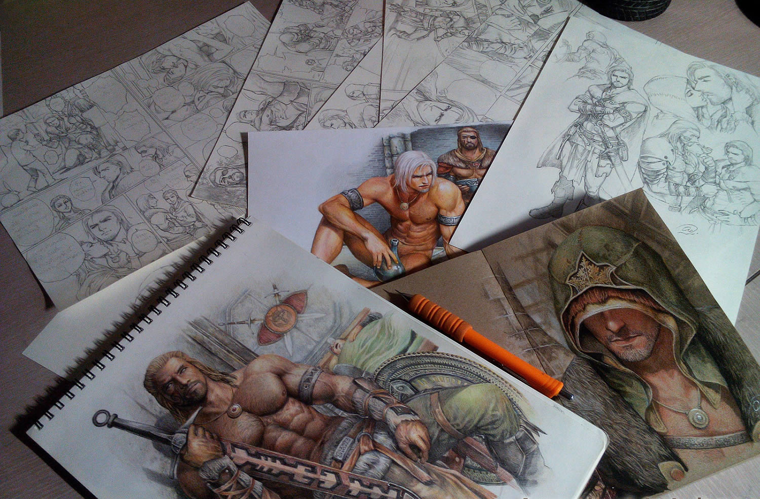 various sketchbook drawings by aenaluck