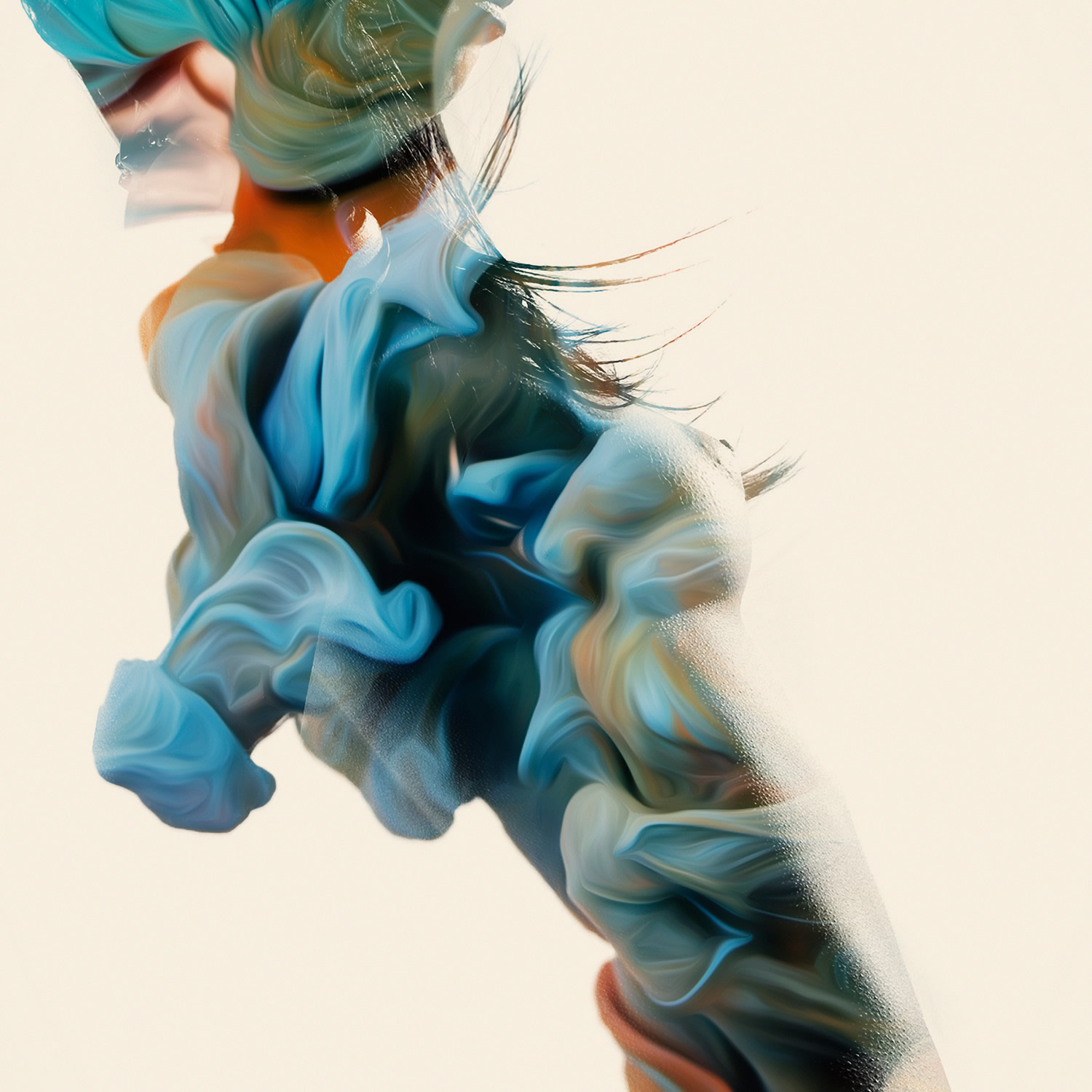 trivial expose, woman in blue, by woman in cloud liquid, Trivial Expose by alberto seveso