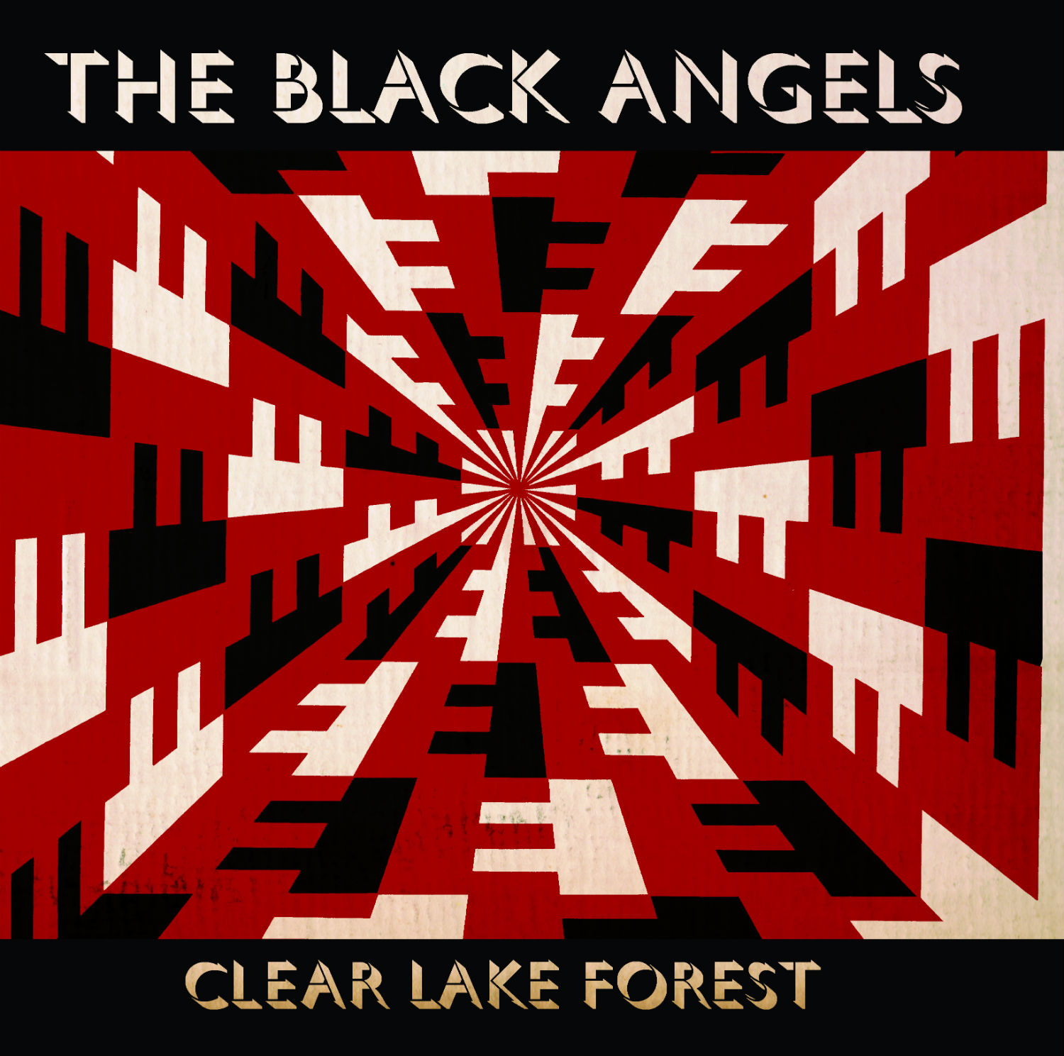 black angels cover art illusion red black