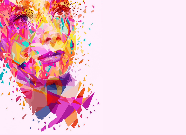 Alessandro Pautasso digital art colour graphic audrey hepburn