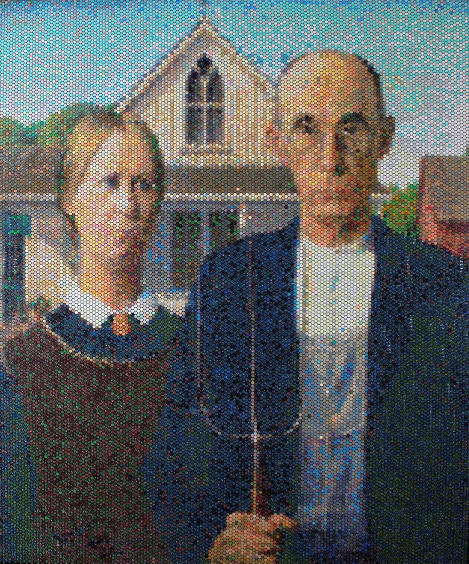 american gothic by bradley hart, bubble wrap