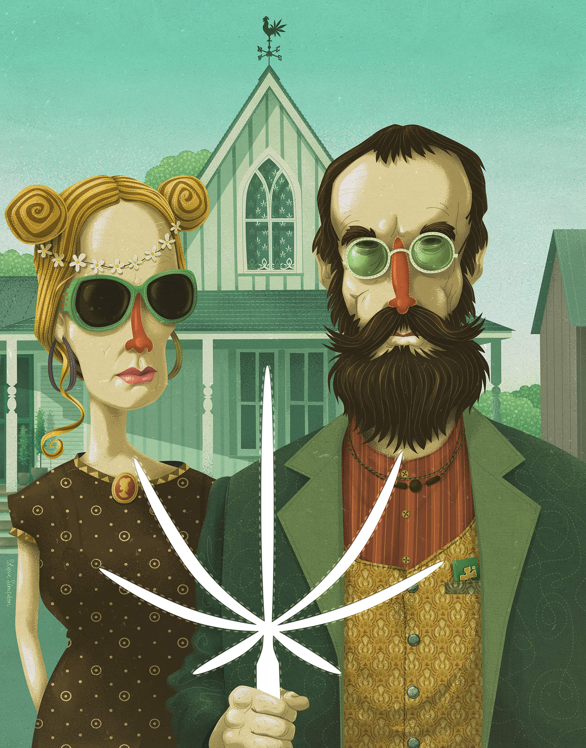 american gothic high by steve simpson