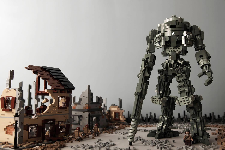 robot lego art by kosmas santosa
