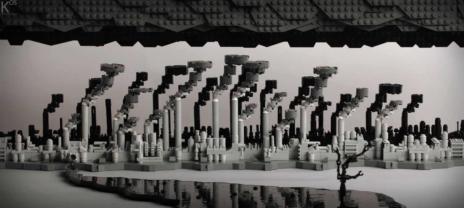 the factory, lego art by kosmos santosa