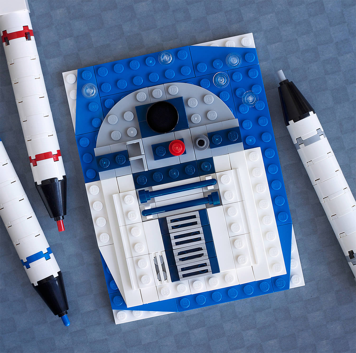 bleep bloop, r2d2, star wars lego art by Chris McVeigh
