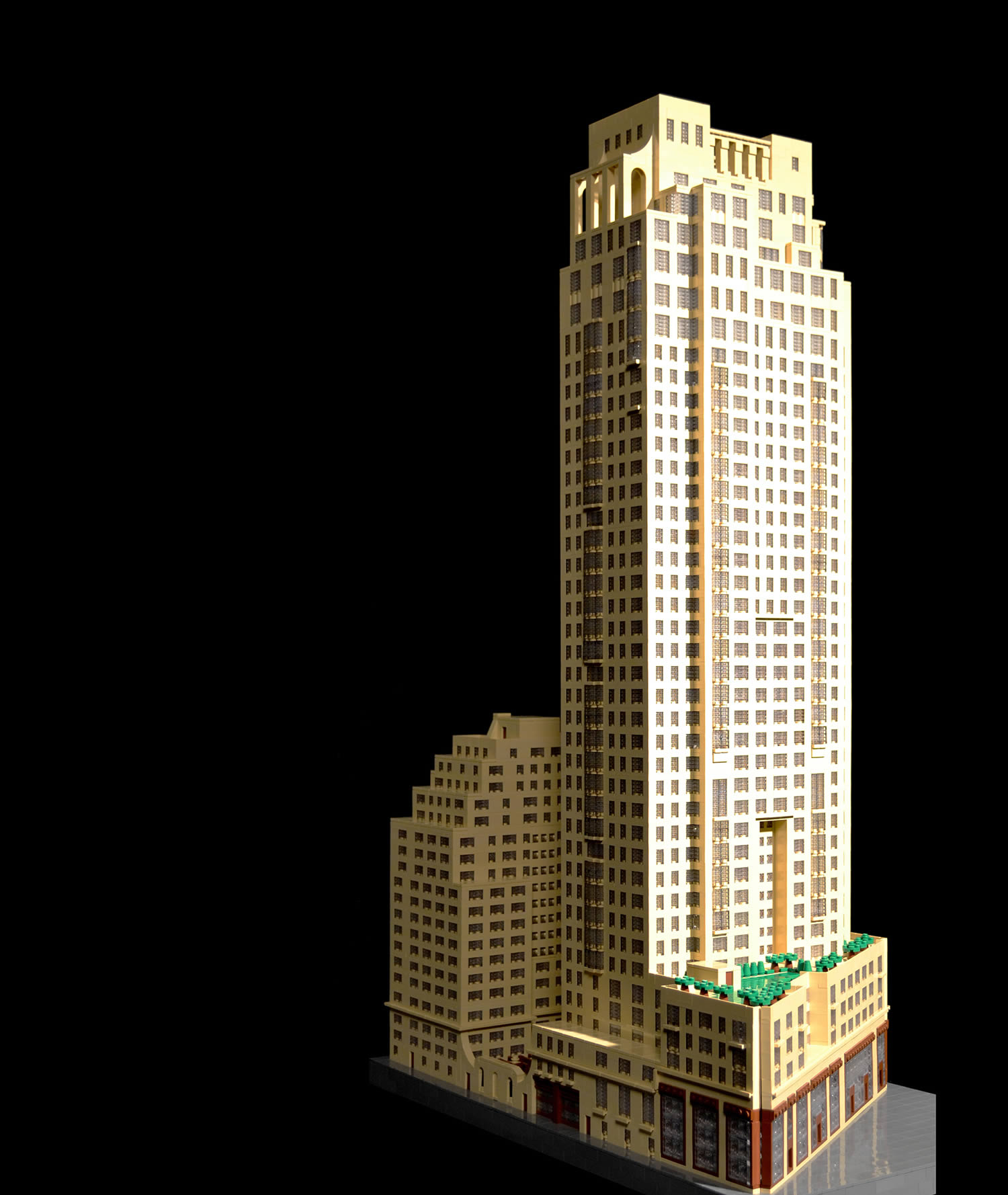 15 Central Park West, lego art, moc, by  Jonathan Grzywacz
