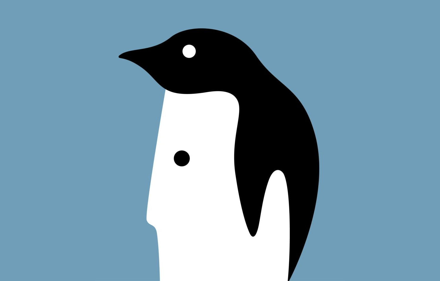 noma bar illusion graphic design penguin