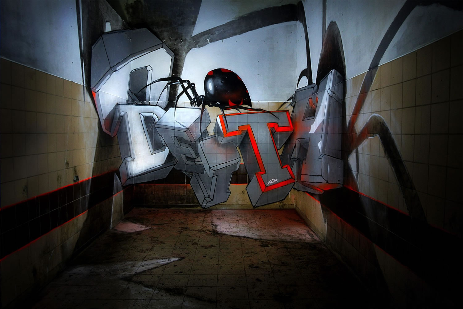 3d letters, geometric by odeith, graffiti