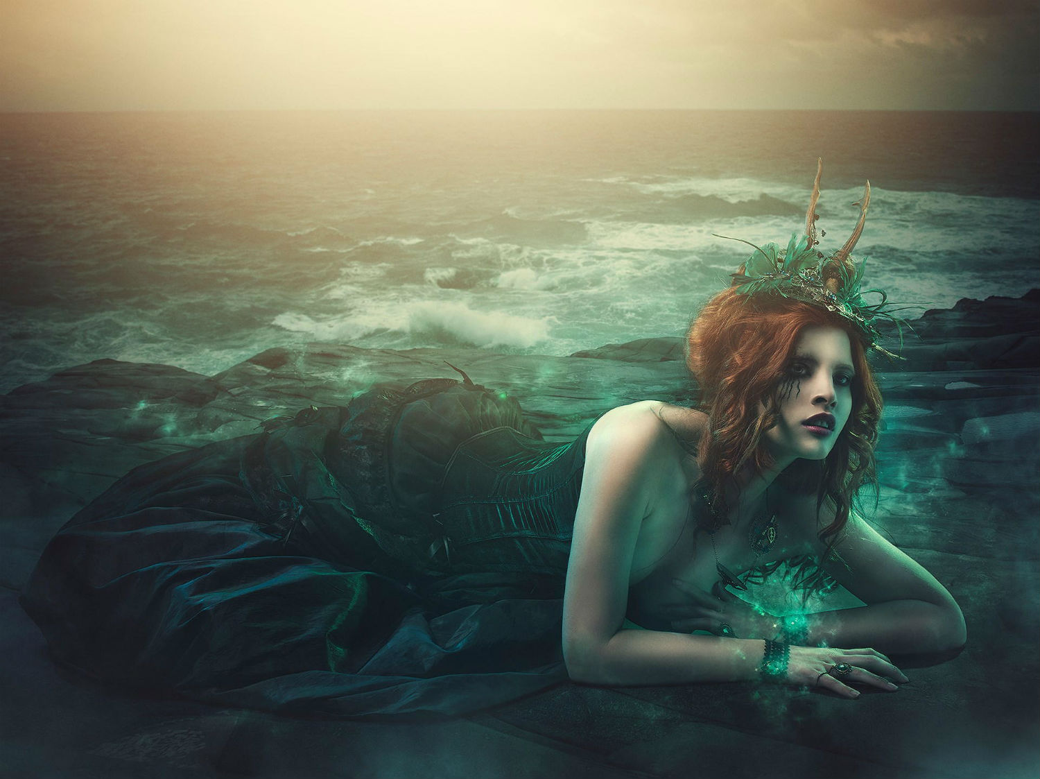 mermaid green rebecca saray photography surreal Digital fantasy