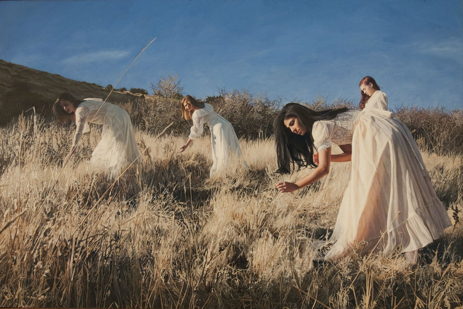 yigal ozeri hyperrealism painting girl field