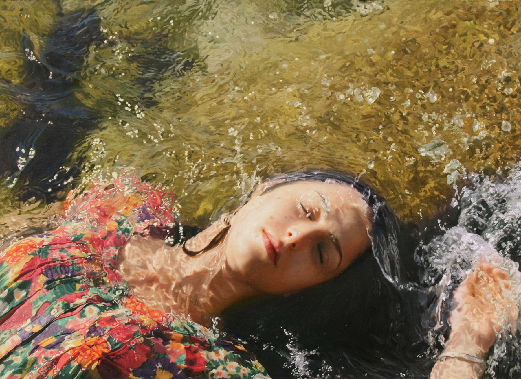 yigal ozeri hyperrealism painting girl