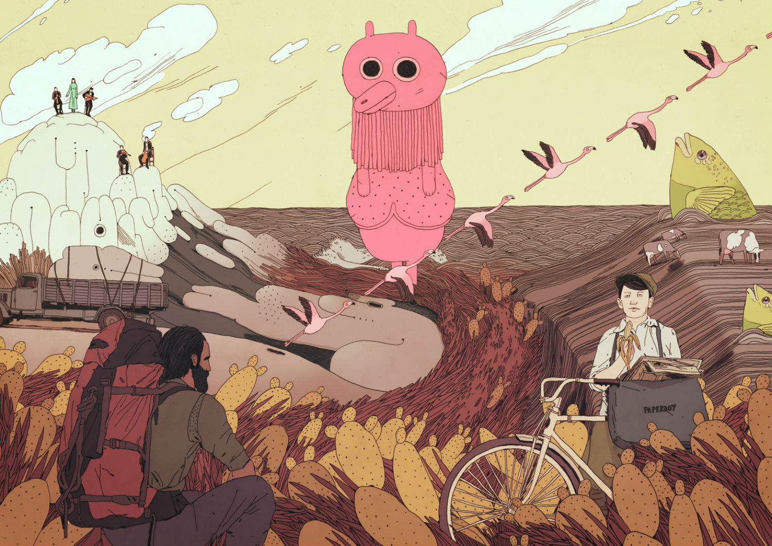 Jon Juarez illustration colour surreal