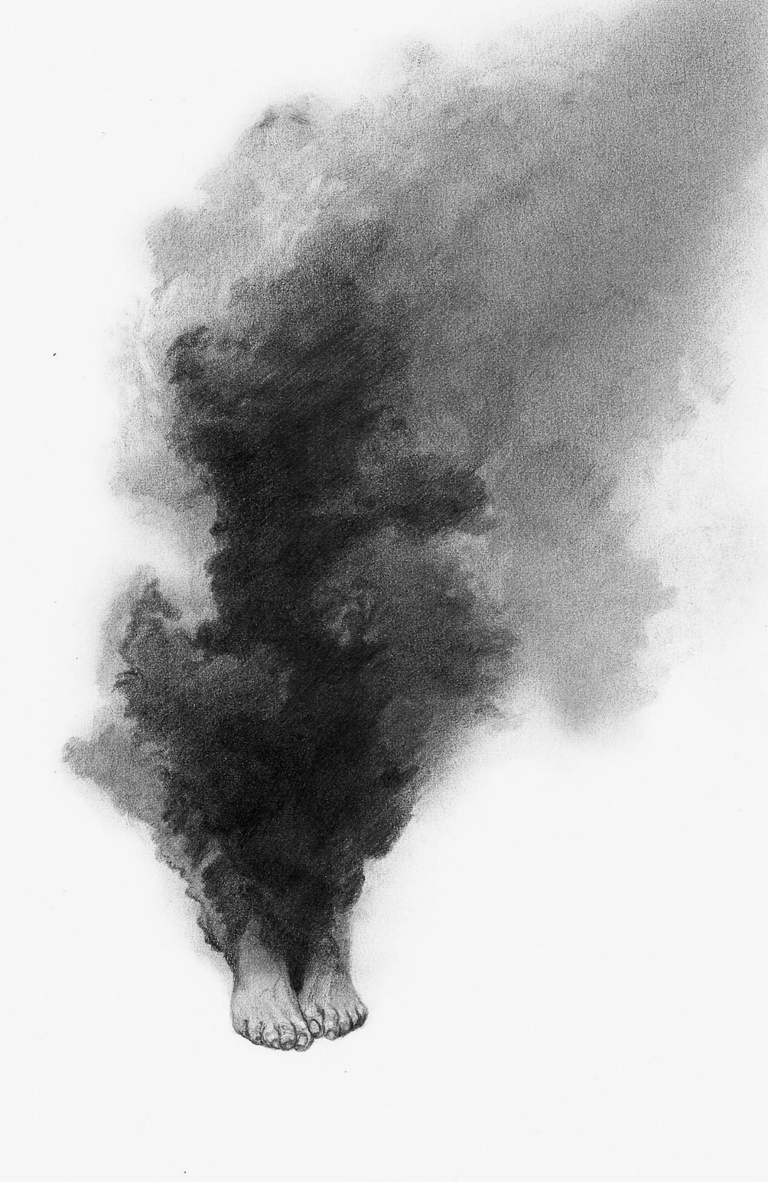 Alejandro García Restrepo illustration black white pencil smoke