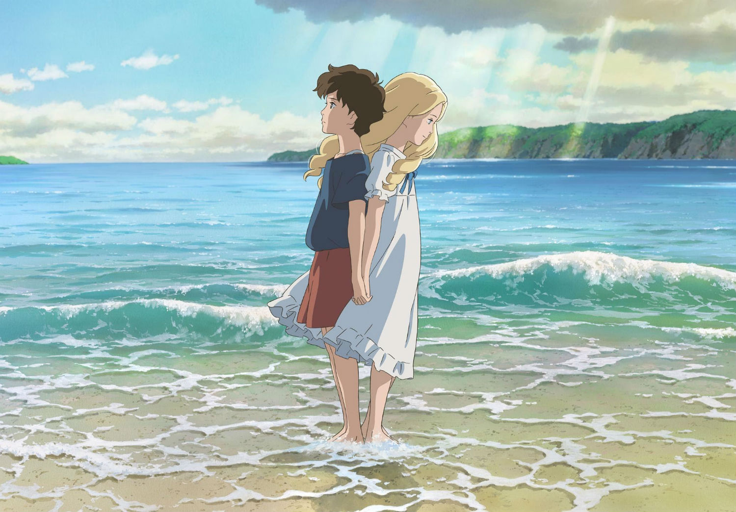 when marine was there studio ghibli ocean beach