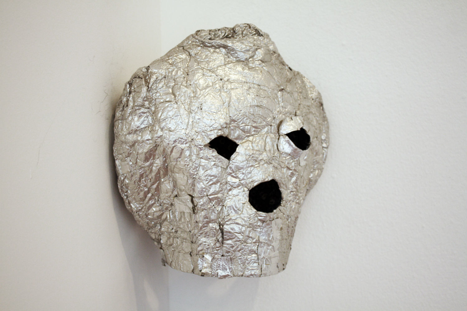 jim lambie fruitmarket multi colour silver mask