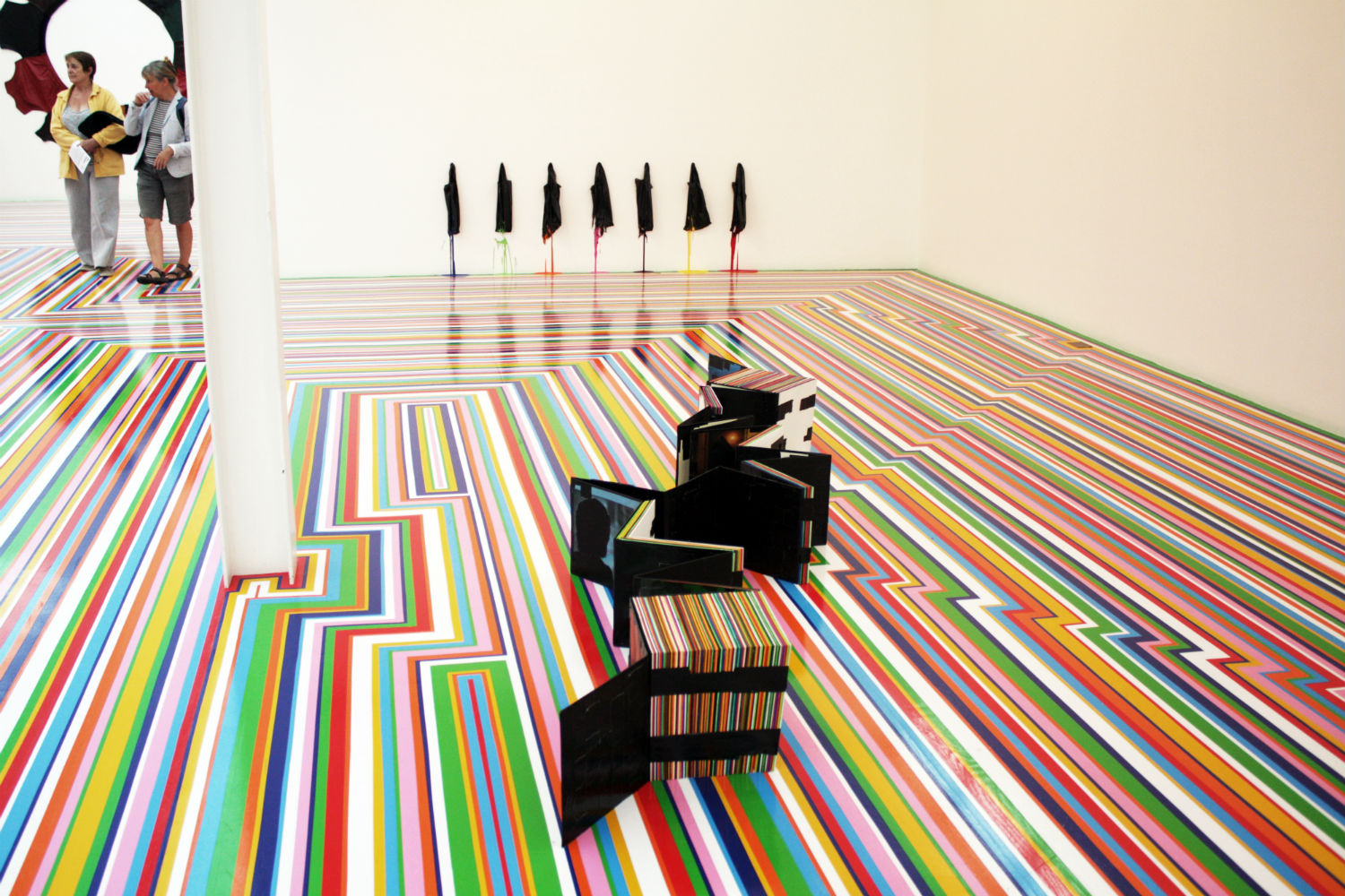 jim lambie fruitmarket multi colour floor gallery