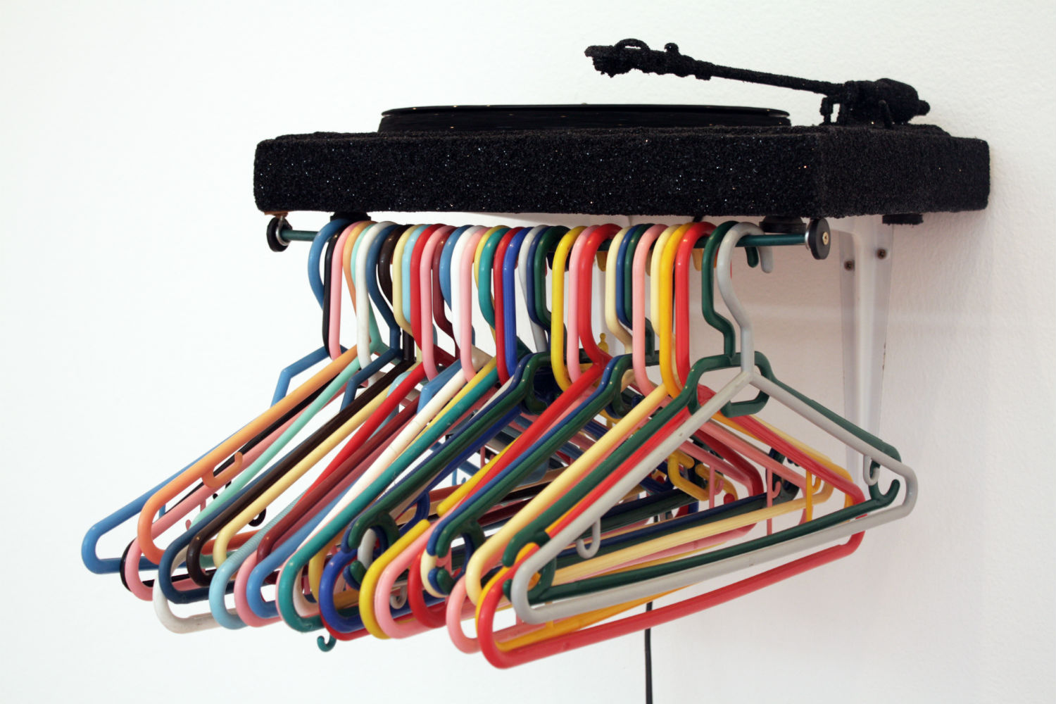 jim lambie fruitmarket multi colour coat hangers