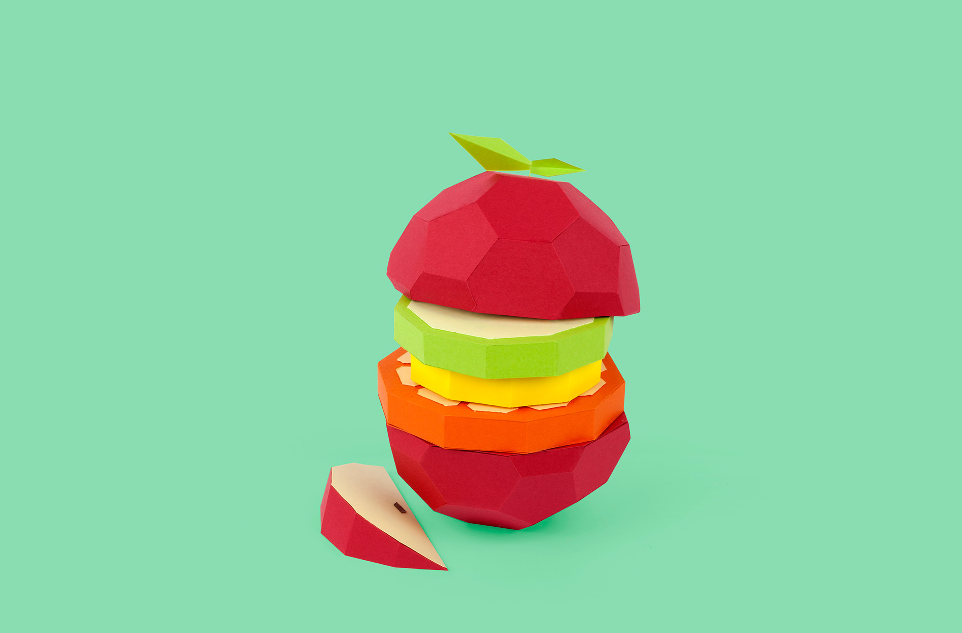 Fun, Fruity Paper Sculptures