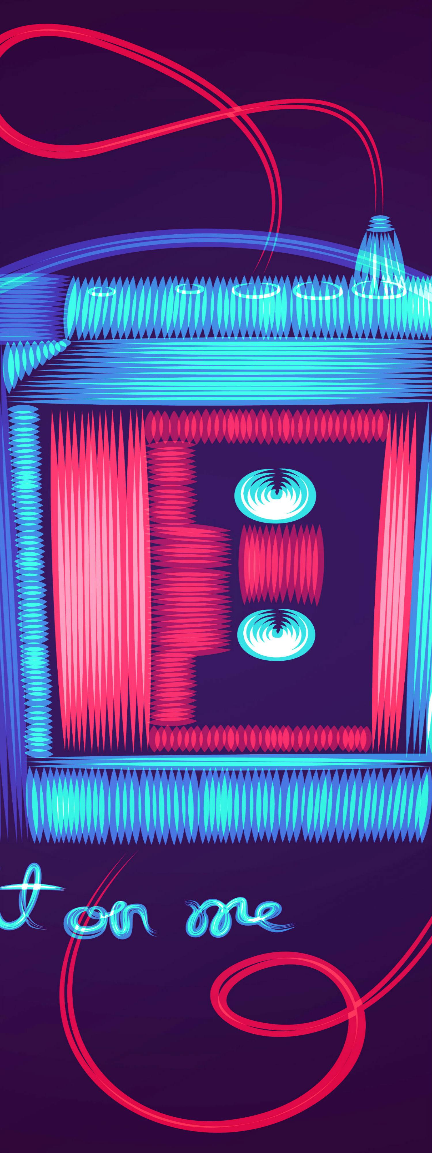 patrick seymour digital art electric colours walkman