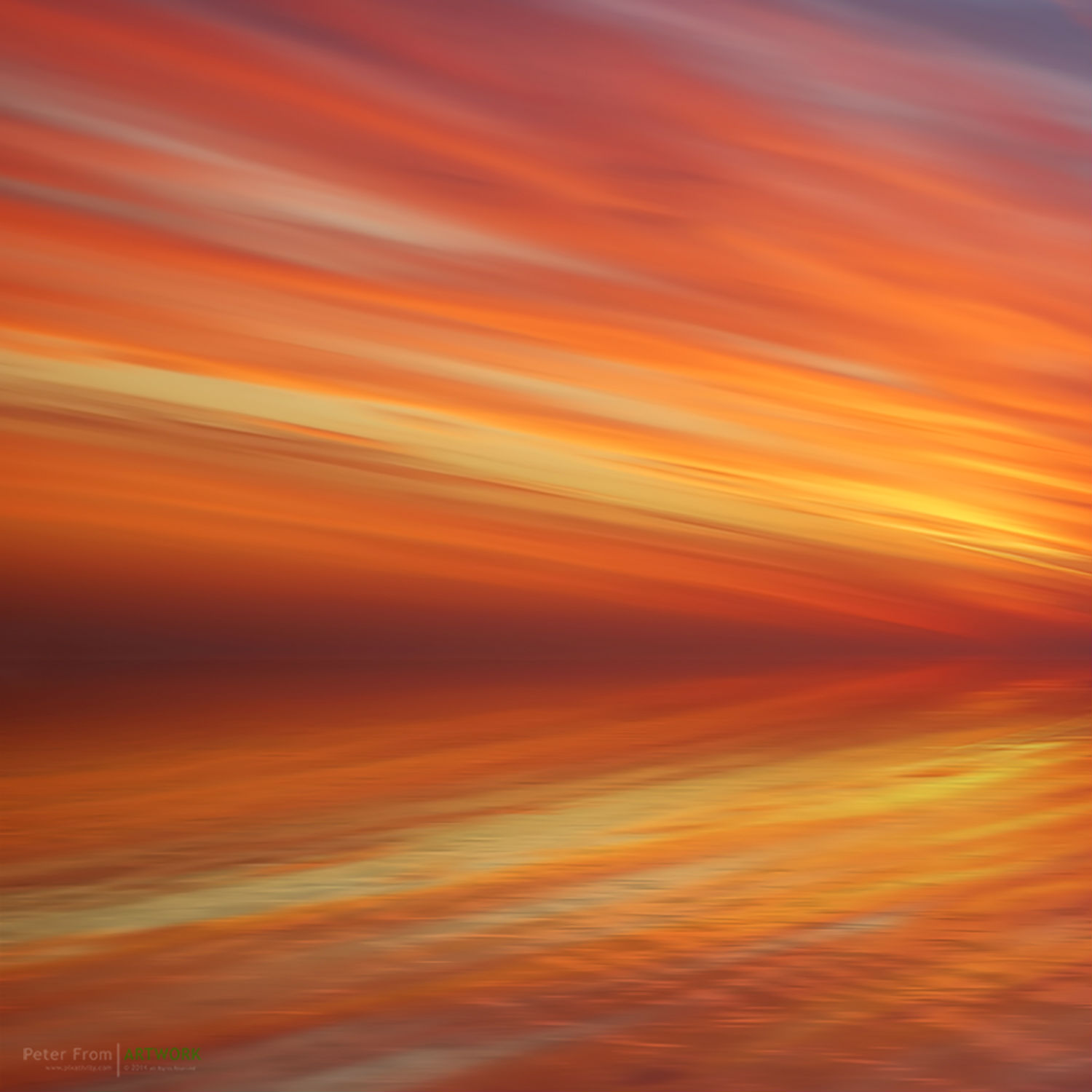 peter from photography colour sunset sky sea orange