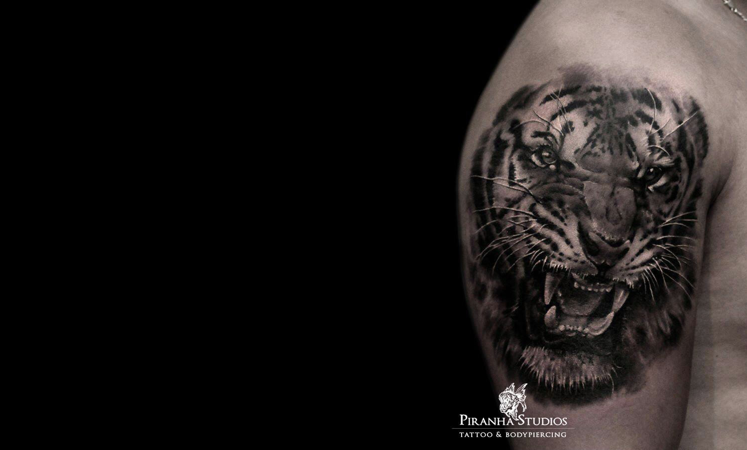 tiger tattoo by Piranha Tattoo Studios