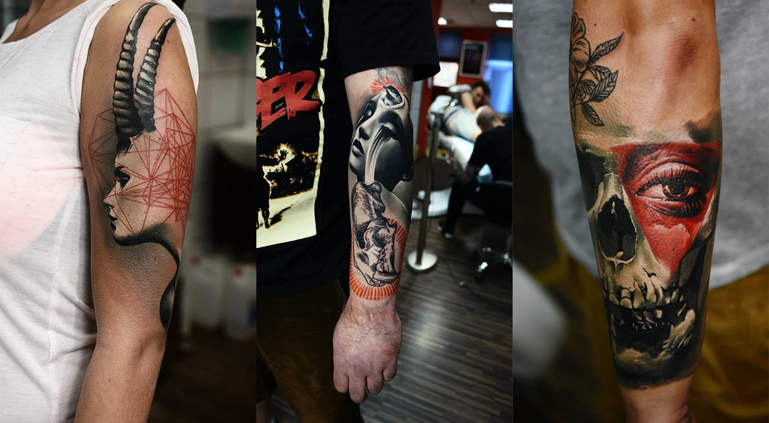 three tattoos by timur lysenko