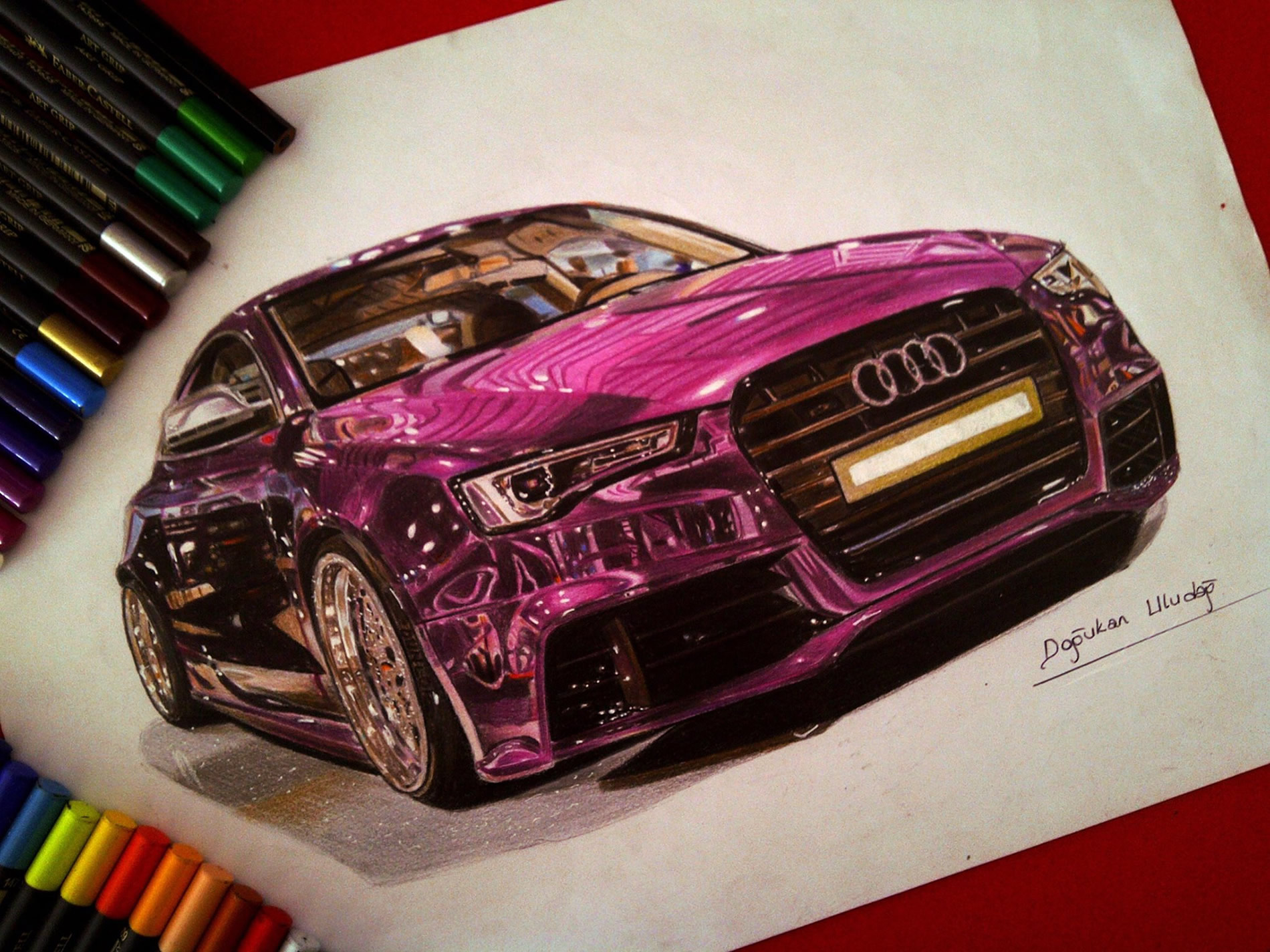 pink-purple audi by ulas and dogukan